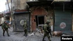 Российские солдаты в Алеппо, 31 января 2017 года