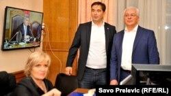 Nebojša Medojević i Andrija Mandić u parlamentu Crne Gore, 29 jun 2017.