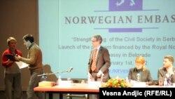 Sa promocije norveškog projekta, Beograd, 1. februar 2012.