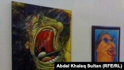 جانب من معرض الفنان منصور البكري في دهوك