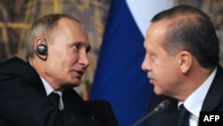 Владимир Путин и Реджеп Эрдоган во время переговоров в Анкаре, декабрь 2012 года