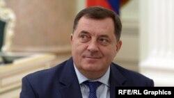 Milorad Dodik, the president of Bosnia's Republika Srpska (file photo)