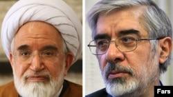 Mehdi Karubi dhe Mir Hossein Musavi