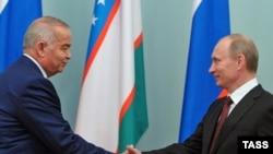 O'zbekiston prezidenti Islom Karimov (ch) va Rossiya prezidenti Vladimir Putin (o').