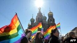 Активісти ЛГБТ-руху у Санкт-Петербурзі