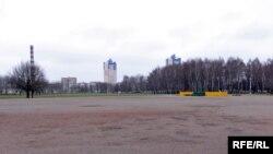 Пляцоўка на плошчы Бангалор, дзе дазволены сёлетні «Чарнобыльскі шлях».