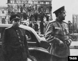 """Начальник """"Смерша"""" Виктор Абакумов в Германии, 1945 год"""
