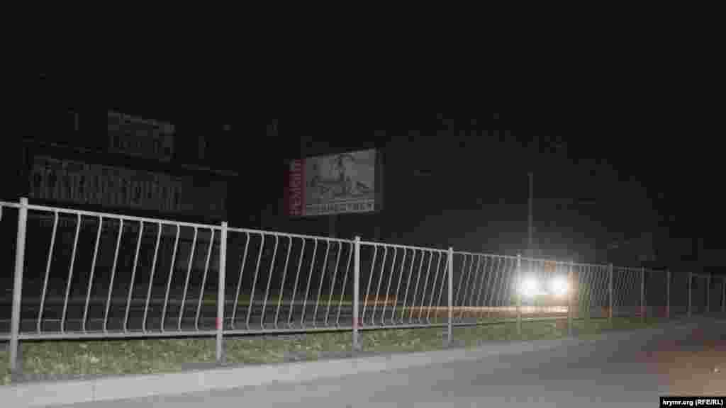 Проспект Перемоги освітлюють тільки фари машин