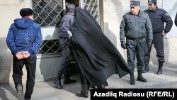 Nardaran məhbuslarının məhkəməsi. Foto arxiv