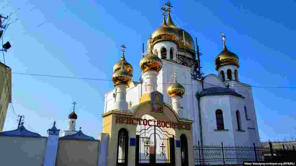 Bağçasaraydaki pravoslav kilsesi. Bina 1913 senesi quruldı