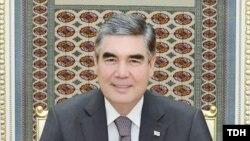 Türkmenistanyň prezidenti Gurbanguly Berdimuhamedow. TDH-nyň suraty