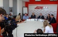 Пресс-конференция кандидатов СР, отстраненных от выборов