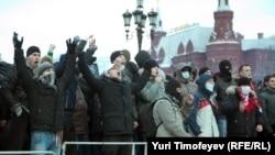Москва, Манежная площадь, 11 декабря 2010