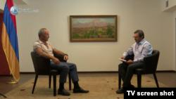 """Robert Kocharian """"Yerkir Media"""" televiziyasına müsahibə verir, 26 iyul, 2018-ci il"""
