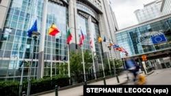 Pamje nga ndërtesa e Parlamentit Evropian në Bruksel.