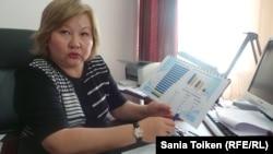 Начальник областного управления координации занятости и социальных программ Гульмира Калмуратова. Актау, 27 мая 2015 года.
