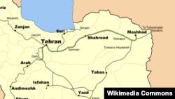 روزانه دستکم ۲۰ قطار از تهران راهی مشهد میشود (در تصویر نقشه راهآهن تهران-مشهد)