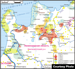 Малые народы Ленинградской области. Карта Wikipedia
