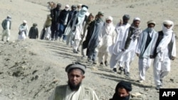 File photo of Taliban fighters in Afghanistan.