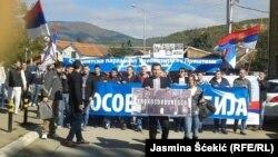 Nga protesta në Mitrovicën e veriut...