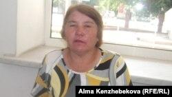 Ақжар ауылының тұрғыны Мира Орынбаева. Алматы, 10 шілде 2014 жыл.