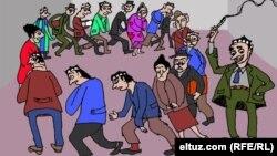 Eltuz.com рассоми чизган карикатура ҳам камситилаëтган ўқитувчиларни акс эттиради.
