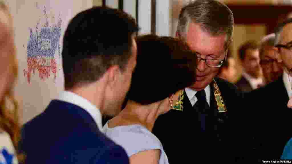 Čepurin na dočeku zvanica na prijemu u Ambasadi Rusije u glavnom gradu Srbije