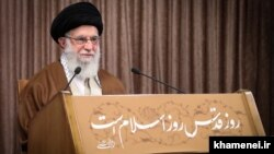 Ayatollah Ali Khamenei's speech came on what Iranian authorities calls Quds Day, which is marked every year in solidarity with the Palestinians.