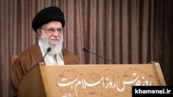 Iran's Supreme Leader Ali Khamenei delivering his Qods day speech. May 22, 2020