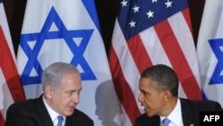 باراک اوباما (راست) و بنیامین نتانیاهو، رؤسای جمهور آمریکا و اسرائیل