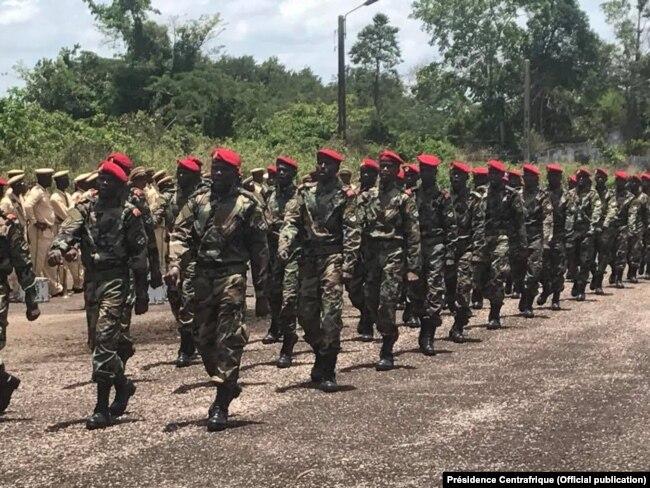 Батальон правительственной армии ЦАР, подготовленный с помощью российских инструкторов