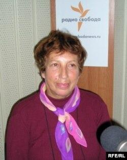 Татьяна Никольская в студии Радио Свобода
