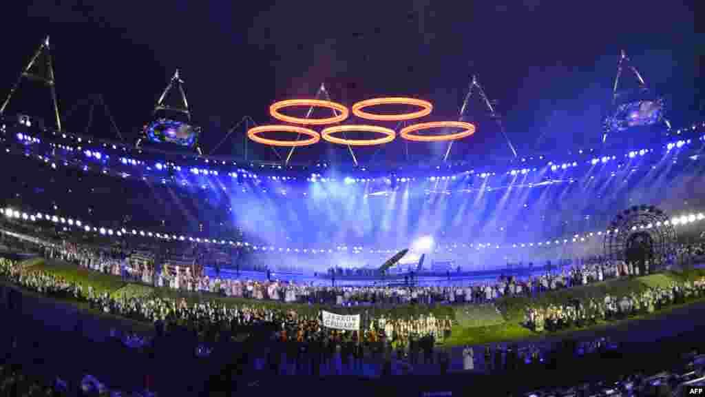 Olimpiya Stadionundan görüntülər. 27 iyul 2012.