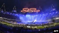 Ceremonia e hapjes së Lojërave Olimpike (LO) në Londër.