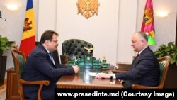 Ambasadorul UE Peter Michalko la întrevederea cu președintele Igor Dodon, 25 martie, 2019