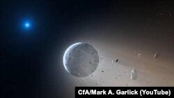 تصویری خیالی از بلعیده شدن سیارهای از سوی کوتوله سفید