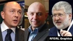 (Left to Right): The challenge Ukraine faces in reeling in its oligarchs has been highlighted by the tangled relationship between Deputy Energy Minister Ihor Didenko (left) and two of the country's tycoons: Hennadiy Bogolyubov (center) and Ihor Kolomoyskiy (right)
