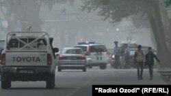 Пыльная буря в Душанбе