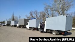 В'язні, яких утримували в тюрмах на окупованій частині Луганської області, перевозяться на територію, що підконтрольна уряду України. Щастя, 20 березня 2019 року