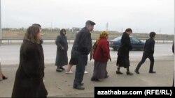 protest in ashgabat