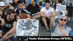 Протести против полициска бруталност, поради убиството на Мартин Нешкоски, на 10 јуни во Скопје.