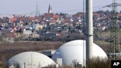 Германиядаги йирик ядровий иншоотлардан бири бўлган Некарвестҳейм атом станцияси.