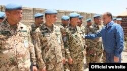 Պաշտպանության նախարար Սեյրան Օհանյանը հանդիպում է Աֆղանստանում տեղակայված հայ խաղաղապահների հետ, արխիվ