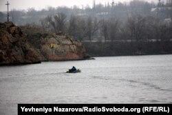 Дніпро біля Хортиці