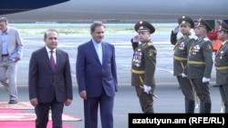 Armenia - Iran's Vice-President Eshaq Jahangiri arrives in Yerevan, 14 Oct, 2015