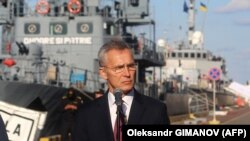 Генеральний секретар НАТО Єнс Столтенберґ. Одеса, 30 жовтня 2019 року