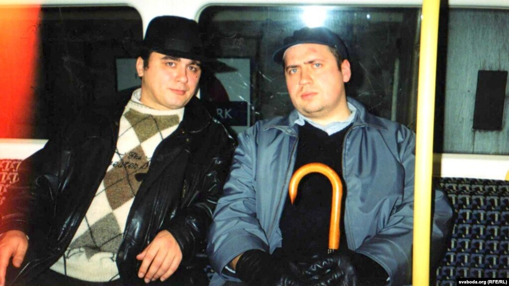 Зьміцер Бартосік і Ігар Лабацэвіч у лёнданскім мэтро