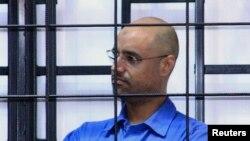 Саиф аль-Ислам Каддафи в здании суда в Триполи