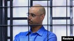 Сейф аль-Ислам в тюрьме в Зинтане. Одна из последних его фотографий, сделанных в мае 2014 года