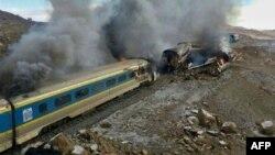 Місце катастрофи потягів, Іран, 25 листопада 2016 року